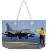 Airman Gives The Thumbs-up Signal As An Weekender Tote Bag