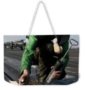 Airman Greases The Catapult Shuttle Weekender Tote Bag