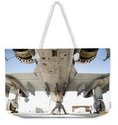 Airman Performs An Inspection Weekender Tote Bag