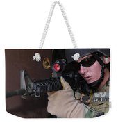 Airman Posts Security At The Front Door Weekender Tote Bag