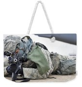 Airman Provides Security At Whiteman Weekender Tote Bag