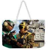 Airman Receives Proper Fire Fighting Weekender Tote Bag