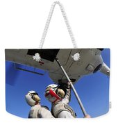 Airmen Attach Pallet Rigs To An Sa-330j Weekender Tote Bag