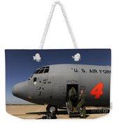 Airmen Board A C-130j Hercules At Dyess Weekender Tote Bag