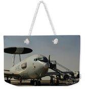 Airmen Prepare A U.s. Air Force E-3 Weekender Tote Bag
