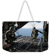 Airmen Wait For The Signal To Deploy Weekender Tote Bag