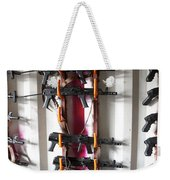 Akm Assault Rifles Lined Up On The Wall Weekender Tote Bag