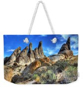 Alabama Hills Granite Fingers Weekender Tote Bag by Bob Christopher