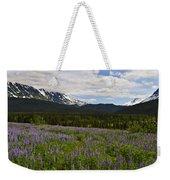 Alaska Lupine Weekender Tote Bag