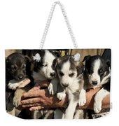 Alaskan Huskey Puppies Weekender Tote Bag