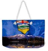 Albertas Rocky Mountains Weekender Tote Bag