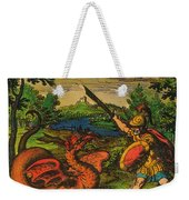 Alchemical Knight Slays The Primordial Weekender Tote Bag by Science Source