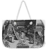 Alchemists Laboratory, 1595 Weekender Tote Bag by Science Source