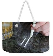 Alcohol And Cocaine Weekender Tote Bag