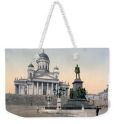 Alexander II Memorial At Senate Square In Helsinki Finland Weekender Tote Bag