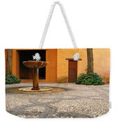 Alhambra Courtyard And Fountain In Spain Weekender Tote Bag