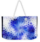 Alhambra Pattern Blue Weekender Tote Bag