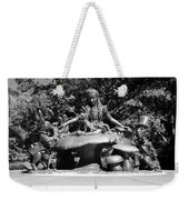 Alice In Wonderland In Central Park In Black And White Weekender Tote Bag