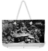 Alice In Wonderland In Central Park In Black And White Weekender Tote Bag