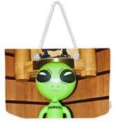 Alien In The Corner Booth Weekender Tote Bag