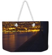 Alien Spacecraft Over Villefranche Weekender Tote Bag