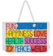 All The Happy Words Weekender Tote Bag