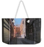 Alley Front Street Layered Weekender Tote Bag