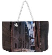 Alley With Fire Escape Layered Weekender Tote Bag