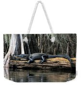 Alligator Sunning Weekender Tote Bag