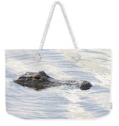 Alligator With Sky Reflections - A Closer View Weekender Tote Bag