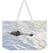 Alligator With Sky Reflections Weekender Tote Bag