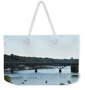 Along The Schuylkill River At Strawberry Mansion Weekender Tote Bag