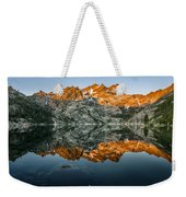 Alpenglow At Upper Sardine Lake Weekender Tote Bag