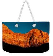 Alpenglow In Zion Canyon Weekender Tote Bag