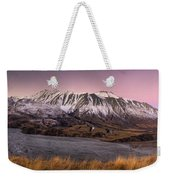Alpenglow Over The Clyde River Weekender Tote Bag