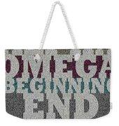 Alpha Omega Beginning End Weekender Tote Bag