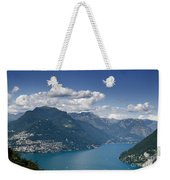 Alpine Lake And Mountains Weekender Tote Bag