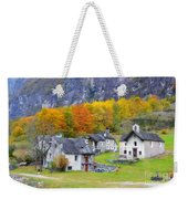 Alpine Village In Autumn Weekender Tote Bag
