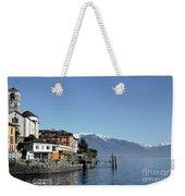 Alpine Village On The Lake Front Weekender Tote Bag