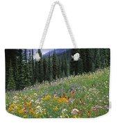 Alpine Wildflower Meadow, Mount Weekender Tote Bag