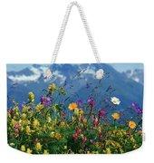 Alpine Wildflowers Weekender Tote Bag