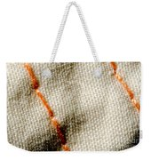 Amber Stitch Study Of Threads Up Close Weekender Tote Bag