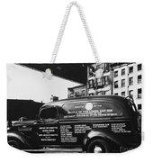 Ambulance, Late 1930s, Nyc Weekender Tote Bag