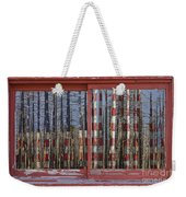 America Still Beautiful Red Picture Window Frame Photo Art View Weekender Tote Bag