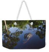 American Alligator In The Okefenokee Swamp Weekender Tote Bag