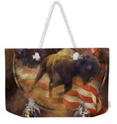 American Buffalo Weekender Tote Bag by Carol Cavalaris