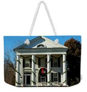 American Colonial Architecture Christmas  Weekender Tote Bag