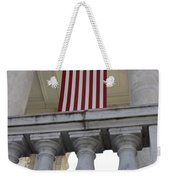 American Flags Hang In The Amphitheatre Weekender Tote Bag