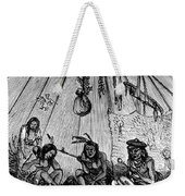 American Indian Medicine Lodge, 1868 Weekender Tote Bag