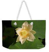 American Lotus Nelumbo Lutea Opening Weekender Tote Bag